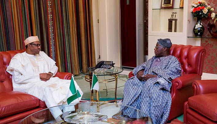 Obasanjo and Buhari at State House