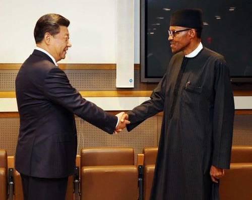 Presidemt Buhari and President Xi of China.