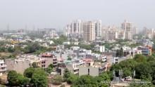 The Skyline of the tallest buildings in Gurgaon, New Delhi