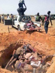 bodies dumped in mass grave