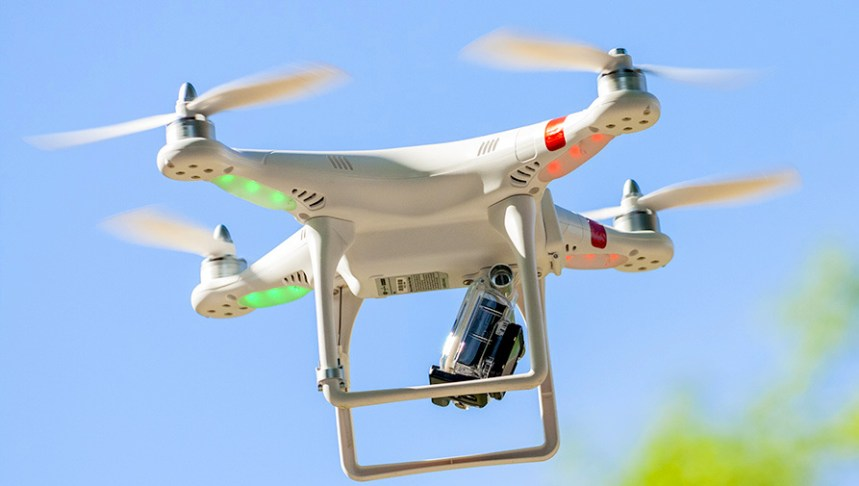 A drone used to illustrate the story