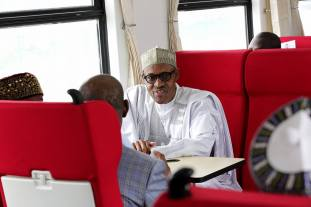 President Muhammadu Buhari commissioning the Abuja-Kaduna train services