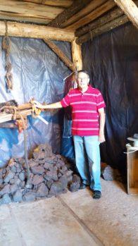 John Seliga, inside the old Pioneer Mine, Ely Minnesota.