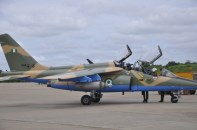 Newly weaponized NAF alpha jet ready for combat mission in the North East