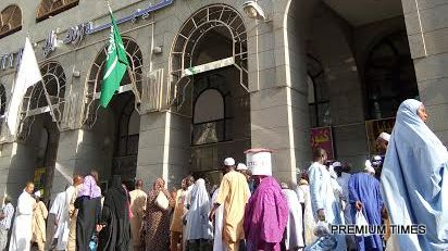 Photos of pilgrims hotel accommodation about 30 meters close to Medina Grand mosque.