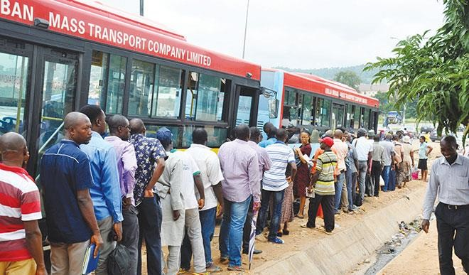 A picture depicting the Abuja Urban Mass Transportation, used to illustrate the story [Photo: Daily Trust]