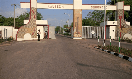 Main Entrance, Ladike Akintola University of Technology (LAUTECH), Ogbomoso. Photo: Premium Times Nigeria