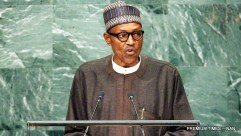 President Muhammadu Buhari addressing World Leaders at the 71st General Assembly of United Nations in New York 7000/21/9/2016/ICE/HB/BJO/NAN