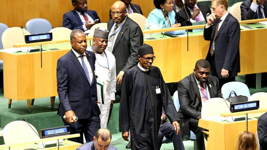 Image result for buhari at UN Assembly