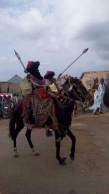 Horsemen in procession at the Zaria Sallah Durbar
