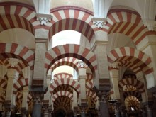The interior design of the Mosque-Cathedral.