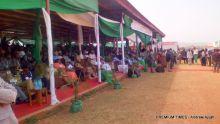 Visitors at the Jos Trade Fair on Thursday.
