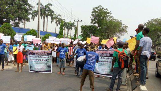 Otodogbame residents protesting