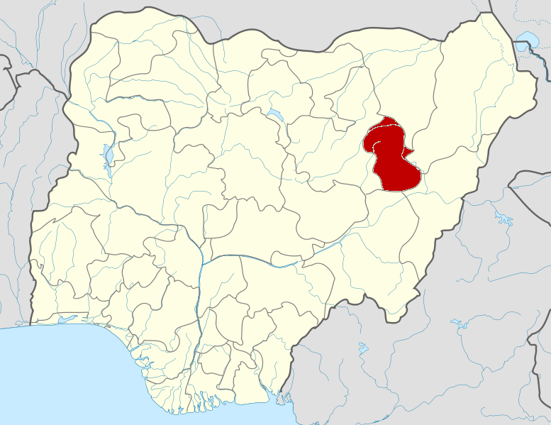 Gombe State on map
