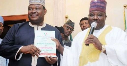Jimoh Ibrahim and Ali Modu Sheriff [Photo credit: Leaders NG]