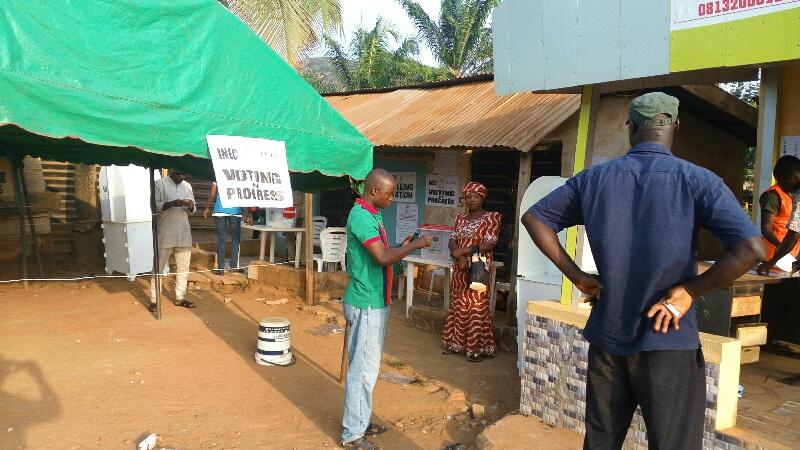 Voters, voting, Ondo