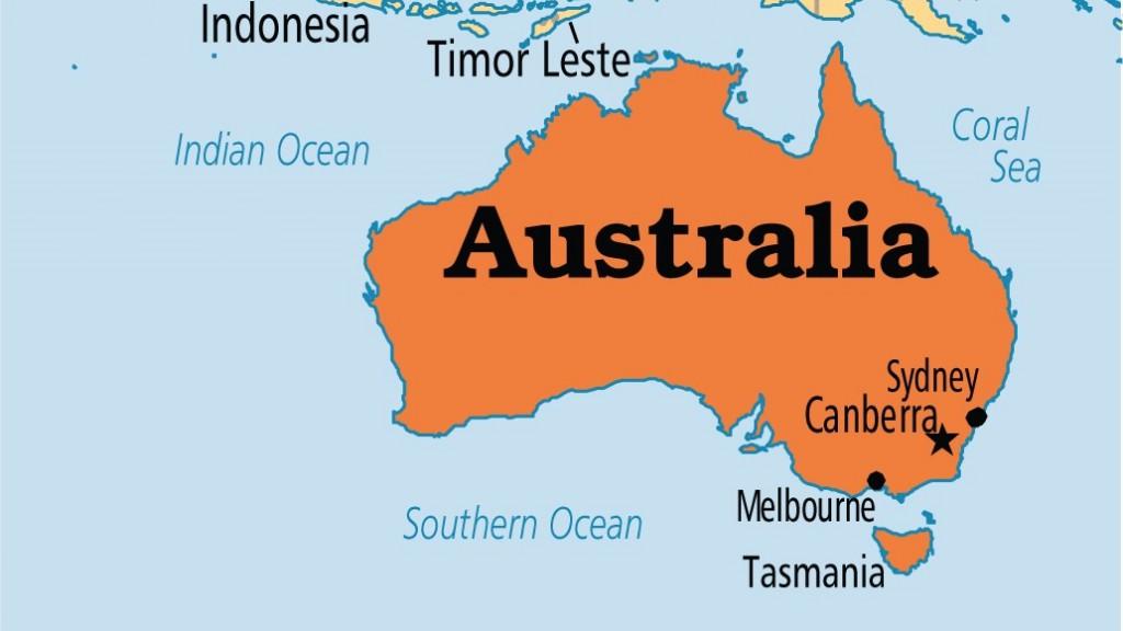 Australia on map [Photo credit: Operation World]