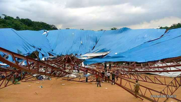 Church building Collapse in Akwa Ibom