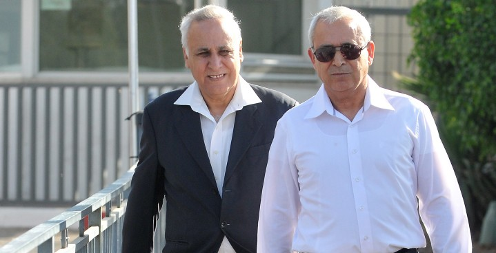 Katsav leaving prison  Photo: Times of Israel