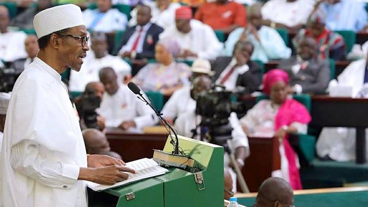 President Muhammadu Buhari presenting the 2017 Budget