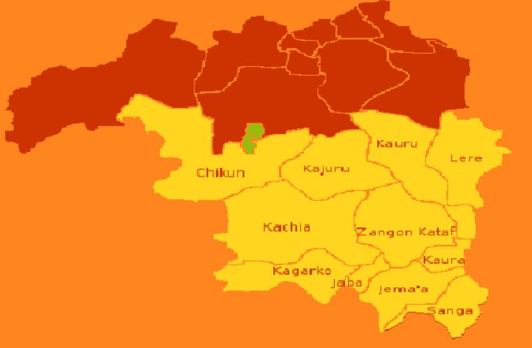 Map showing Southern Kaduna