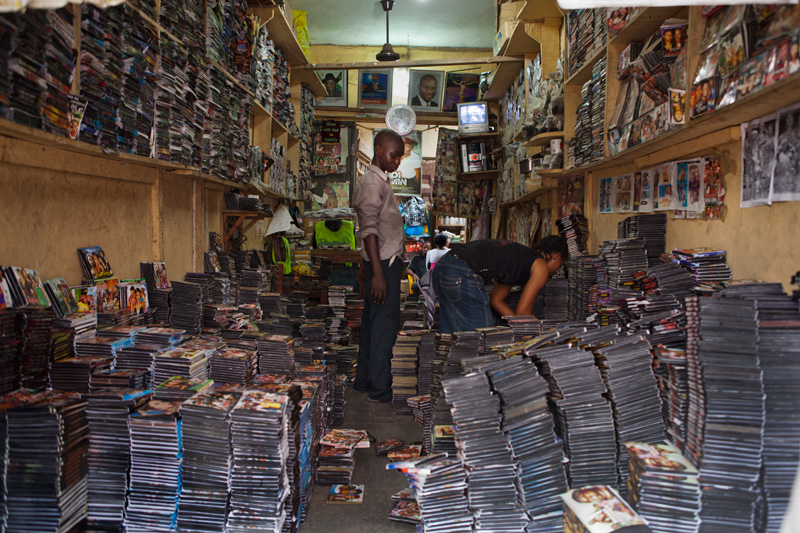 Picture of a movie retail store (Photo Credit: Geoffrey Ellis Photos)