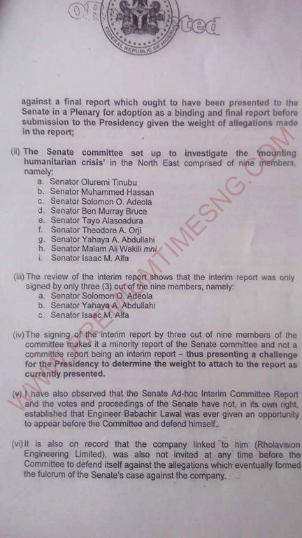 Buhari's letter to the national assembly about babachir-2