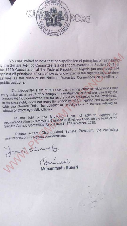 Buhari's letter to the national assembly about babachir-3