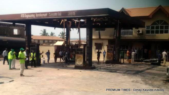 Burnt filling station