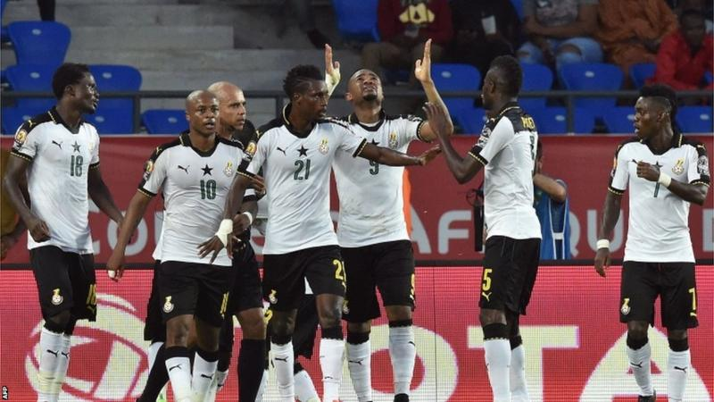 Black Stars of Ghana celebrating victory against DR Congo [Photo credit: BBC]