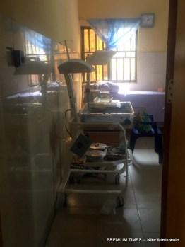 A diagnostic room in primary healthcare, Kuchigoro, Abuja