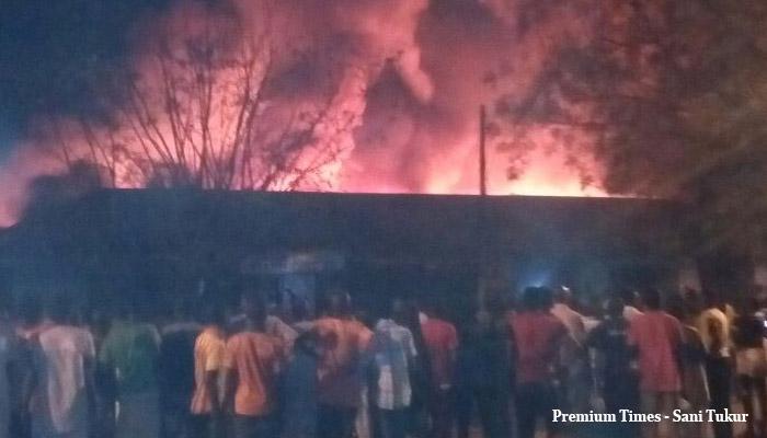 FILE PHOTO: Market on fire