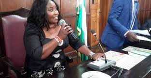 Jumoke Akindele presiding at Ondo State House of Assembly (Credit: Breaking Times)
