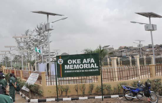 Oke Afa Memorial (In memory of victims of 2002 Ikeja bomb blasts) | Photo credit: nairaland