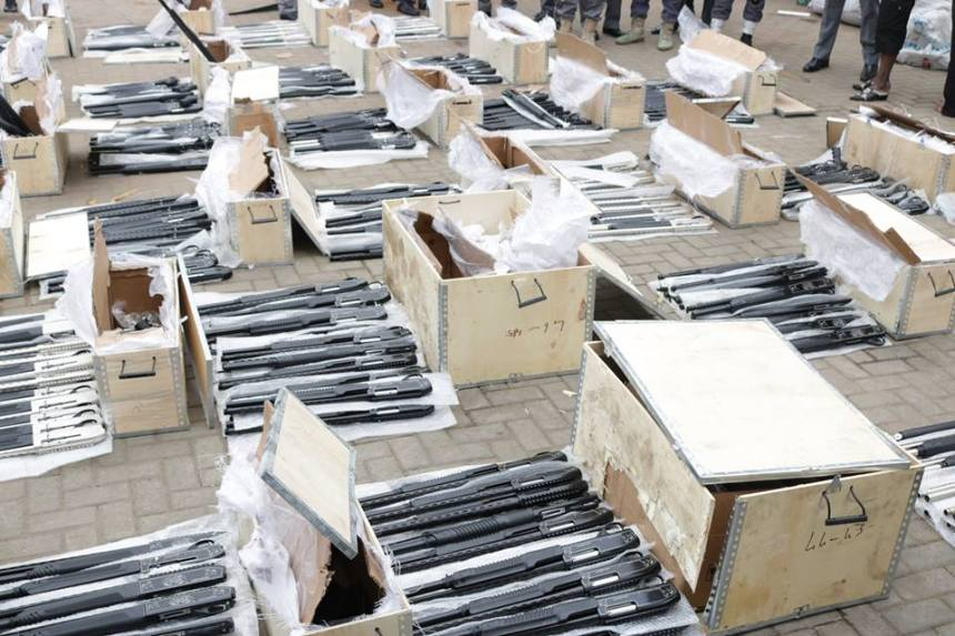 Image result for Nigerian Customs Intercepts 661 Rifles In Lagos