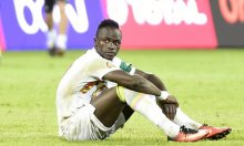 A file photo of Sadio Mané looking dejected after his penalty shoot-out miss means that Senegal were knocked out of the African Cup of Nations. Photograph: Khaled Desouki/AFP/Getty Images