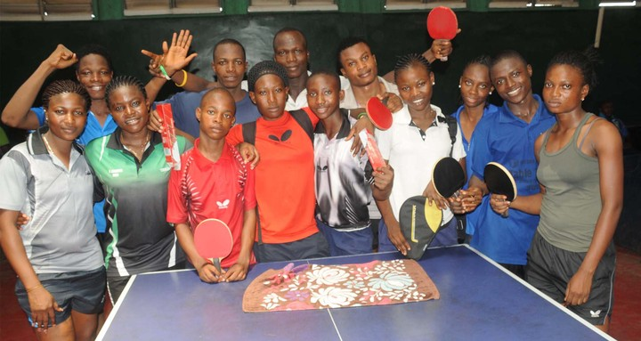 PIC.10. NIGERIA JUNIOR TABLE TENNIS PLAYERS GOING FOR THE INTERNATIONAL TABLE-TENNIS FEDERATION (ITTF) CADET CHAMPIONSHIP/ AFRICAN CHAMPIONSHIP IN TUNISIA DEPARTS ON TUESDAY.