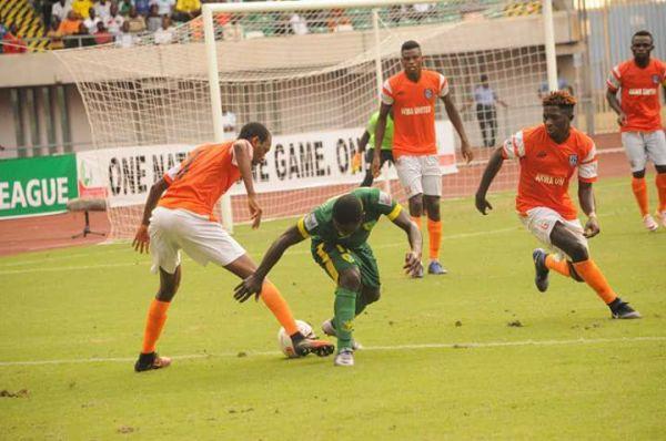 The Match between Akwa United and Abia Warriors
