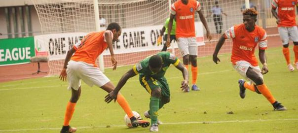 The Match between Akwa United and Abia Warriors