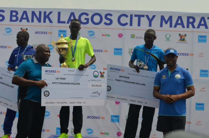 Winners at the just concluded 2017 Lagos City Marathon