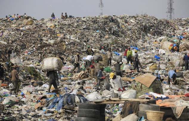 FILE PHOTO: Heap of waste (AP Photo/ Sunday Alamba)