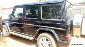 One of the cars: Some of the cars recovered by the EFCC warehoused by the ex-Customs Boss