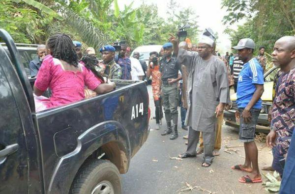 Amosun at accident scene