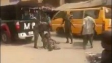 Soldiers molesting physically challenged man in Anambra