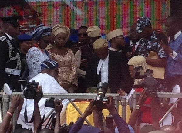 Rotimi Akeredolu taking oath as the new governor, Ondo state