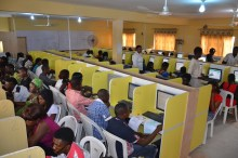 Candidates writing JAMB examination [Photo credit: ElitesplanetBlog]