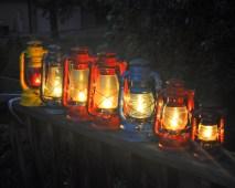 Kerosene lanterns used to illustrate the story