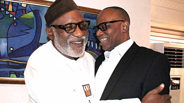 Akeredolu and Mimiko [Photo Credit: The Guardian]
