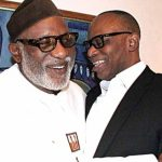 Mimiko, Akeredolu embrace as Ondo governor attends last NEC meeting