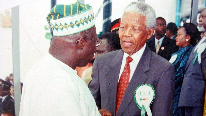 Olusegun Obasanjo and Nelson Mandela